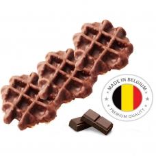 Vaflis belgiškas cukruotas su pieniniu šokoladu, 65 g