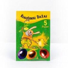 Kiaušinių dažai 5 spalvos