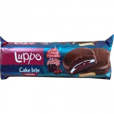 Luppo Cake su puriu kremu ir vyšnių marmeladu šokolade, 184 g