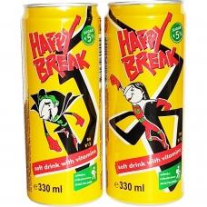 Happy Break obuolių ir mangų skonio gėrimas, 330 ml