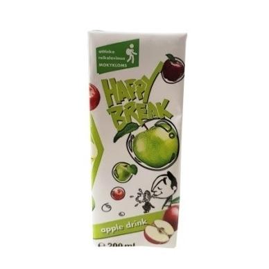 Happy Break sulčių gėrimas, obuolių, 200 ml