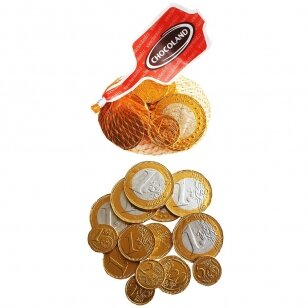 Pieninio šokolado Euro monetų rinkinys, 50 g