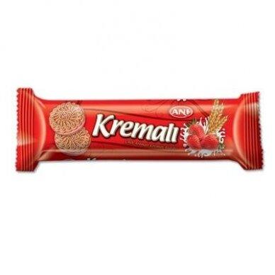 Sausainiai Kremali su braškių sk. pertepimu, 50 g