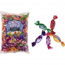 Toffix kramtomi saldainiai su įvairių skonių įdaru, 1 kg