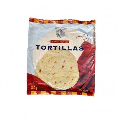 Tortilijos Nuevo Progreso 6x25 cm kvietinės, 450 g